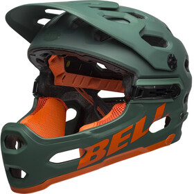 Bell Super 3R MIPS Helmet matte dark green/orange